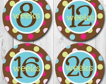Weekly Pregnancy Stickers, Belly Stickers, Baby Bump Stickers, Maternity Stickers, Pregnancy Stickers, Weekly Maternity Stickers,