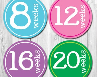 Pregnancy Stickers, Weekly Maternity Stickers, Tummy Stickers, Belly Bump Stickers, New Mom Stickers, Expectant Mom Stickers, 40 weeks