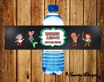 Jake and the Neverland Pirates Water Bottle Label - Mermaid- DIY - INSTANT -