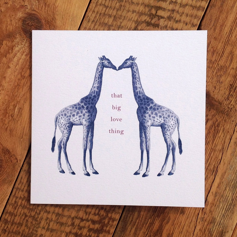 Giraffe Quotes: Giraffe Valentines Card Giraffe Love Card I Love By