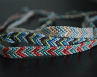 Multi-color woven thread bracelet (customized)