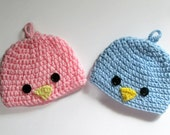 Crochet Baby Bird Hat, Baby Beanie, Baby Boy Hat, Baby Girl Hat, Newborn Beanie, Made to Order, Photo Prop