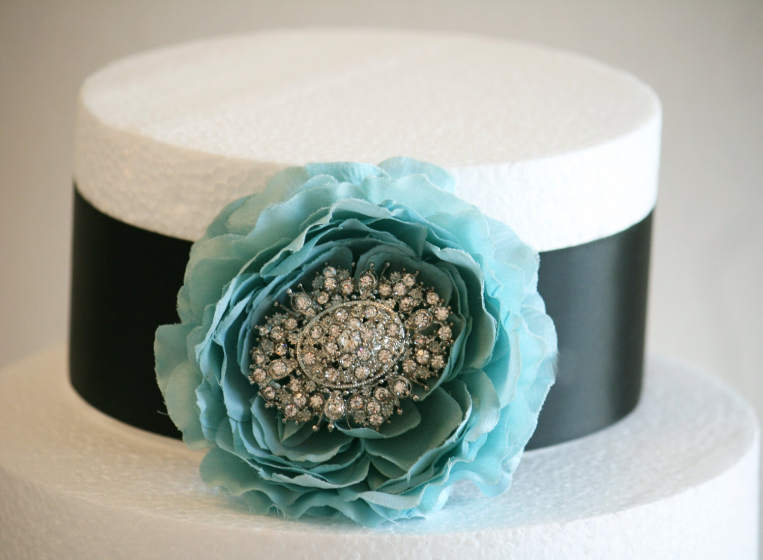 Tiffany Blue and Black Cake Decorations Tiffany Blue by