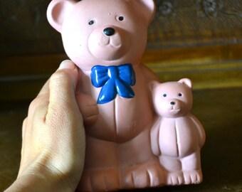 Vintage piggy bank, vintage teddy bear, vintage knick knack,vintage decorative object,teddy bear piggy bank, vintage moneybox, etsyitaliatem