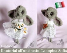 097IT crochet tutorial The topina Sofia. Amigurumi Toy-PDF Of Pertseva Etsy