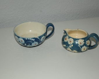 Kähler Ceramic, made in Denmark cup an creamer, have some chipping, but very cute