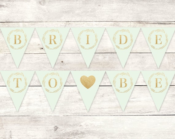 Diy Wedding Word Banners: Bride To Be Banner Printable DIY Bunting Banner Bridal Shower
