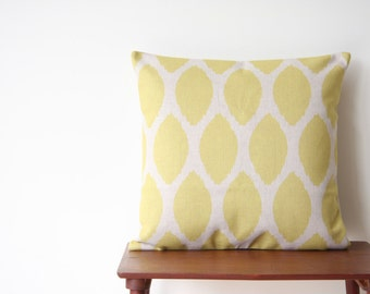 """18""""x18"""" Pillow Cover Geometric Pattern Yellow Dots Cushion Cover Throw Cushion Cover"""