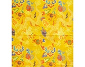 Yellow Thick Brocade Dragon Tibetan Textile, Tibetan Fabric, Upholstery Fabric