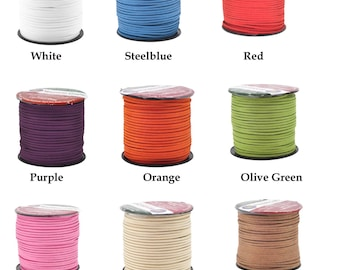 Mandala Crafts Micro-Fiber Faux Leather Suede Cord, 100 Yards, 300 Feet