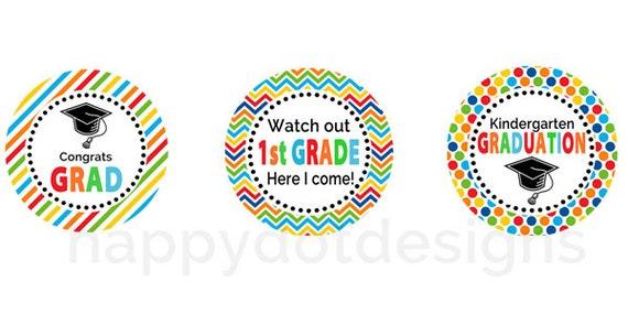 Items similar to Printable Kindergarten Graduation Party Cupcake ...