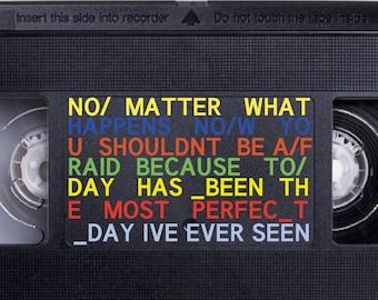Radiohead Videotape Bumper Sticker 6 Quot X3 Quot Printed On 4