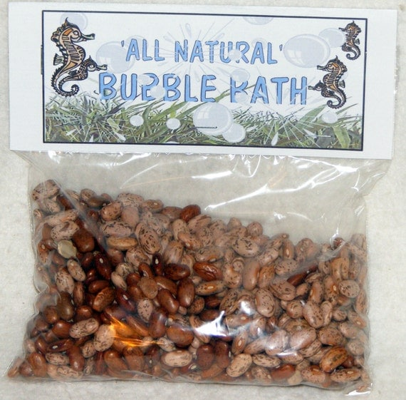 FUNNY BUBBLE BATH  . . . All Natural (gag gift) Bubble Bath (Pinto Beans)