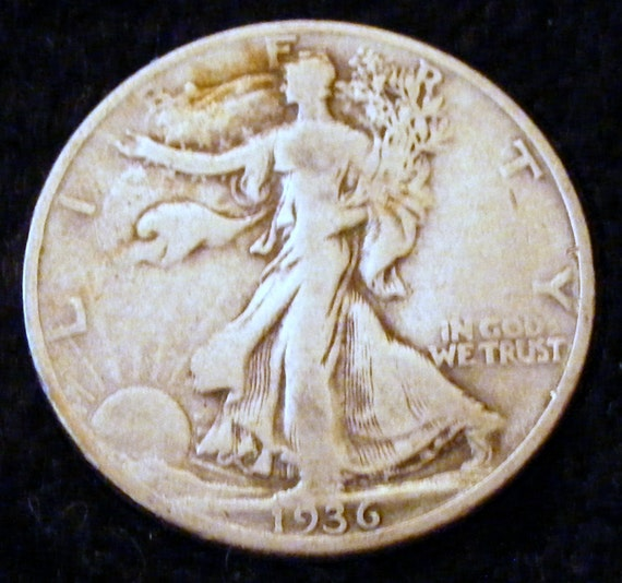 1936 LIBERTY WALKING HALF Dollar . . Great Investment . .