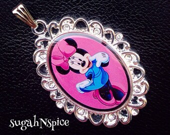 Disney Minnie Mouse pendant Minnie Mouse necklace Disney pendant Disney necklace Minnie Mouse charm