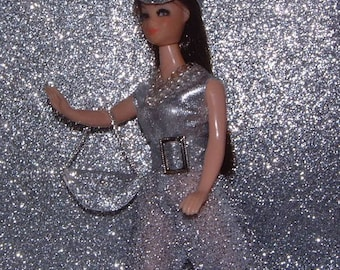 Solar Storm silver OOAK Topper Dawn doll outfit handsewn