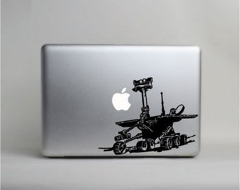 Mars Rover macbook skin vinyl decal © Laced up Decals SKU:Mars Rover 33 small