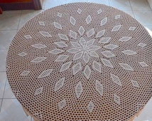 160cm Round table cloths, handmade tablecloths, round crochet tablecloth for home decoration