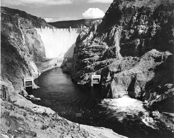 The Hoover Dam, photograph by Ansel Adams, in various sizes