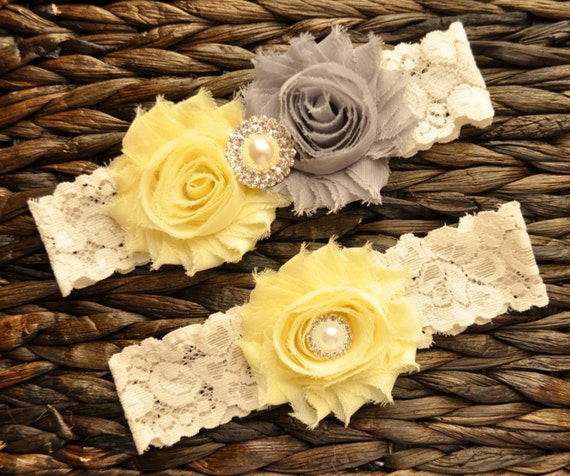 Items Similar To Wedding Garter Set, Bridal Garter Set