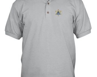 Popular items for police embroidery on etsy for Embroidered police polo shirts
