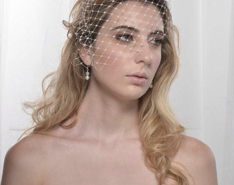 Birdcage veil, Wedding Veil, short birdcage veil