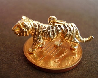 9ct 9k Gold Tiger Charm