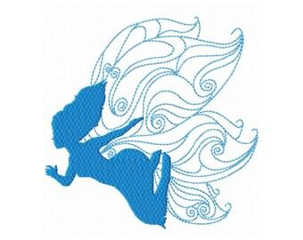 Fairy Silhouette  1  Fill Machine Embroidery DESIGN NO. 321