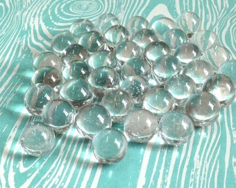 """1 LB Clear glass marbles -  1/2"""" 13mm"""