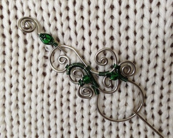 Limited Edition Green Shawl Pin