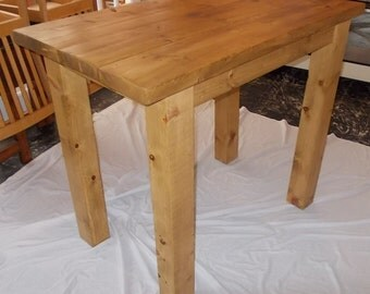 New Hand Made Rustic Plank Breakfast Bar/Kichen Dining Table 018