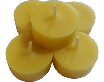 Free Shipping Beeswax Tealights, 120 Pure Beeswax Tea Light Candles  Gift Ideas, Collection of 120 Bulk Beeswax Tea Light Candle Refills