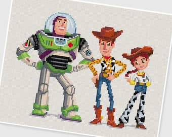 PDF Cross Stitch pattern - Toy Story - INSTANT DOWNLOAD