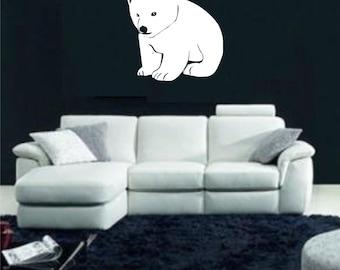 baby polar bear V2 vinyl decal/sticker