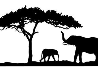 elephant wall mural vinyl decal/sticker