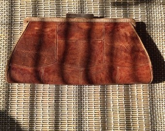 1920s snakeskin clutch bag/ purse.