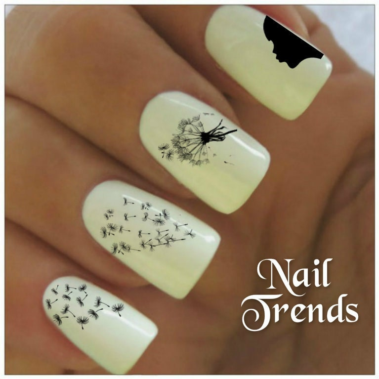 Today Live Sports: Dandelion Nail Decal 20 Vinyl Adhesive Decals ...