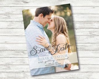 personalized printable digital Save the date - Wedding announcement - card / magnet - custom