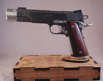 1911 Display Stand with (or without) hidden drawer (Molan Labe Engraved)