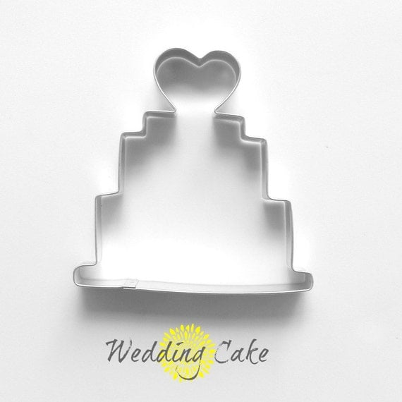 Wedding Cake Cookie Cutter Tin Cookie By TheButtercupHouse