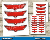 Disney Planes Printable Wings Editable PDF INSTANT DOWNLOAD Birthday Party for Decorations, Banner, Wall Decor & Iron On Transfer Tshirt