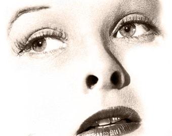 "Visage Collection - Katharine Hepburn - Discipline 24"" x 24"" Canvas Art Poster"