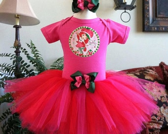 M2M Strawberry Shortcake Party Supplies Birthday Tutu set any size available 12m to 8y FREE Headband