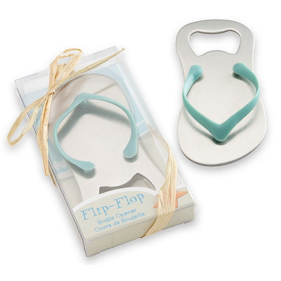 pack of 10 flip flop bottle opener by handstampedfindings on etsy. Black Bedroom Furniture Sets. Home Design Ideas