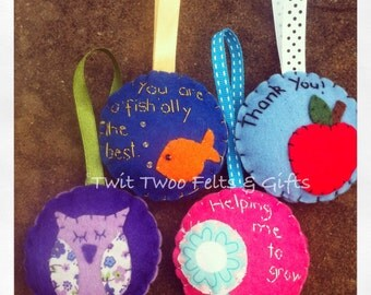 Twit Twoo Felt Lavender Scented Hangers and Keyrings - ideal for Teacher Gifts