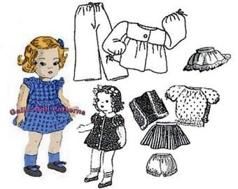 Ginny, Muffy, Alexanderkins Wardrobe Pattern #4