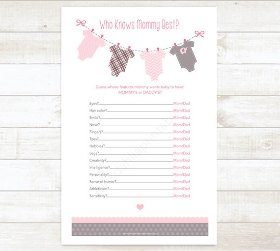 mommy best baby girl shower game baby shower printable game pink baby