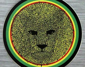 Rasta Lion Sticker Outdoor Bumper Sticker