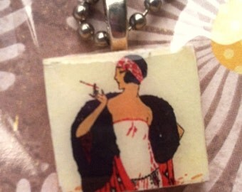 FREE SHIPPING! Scrabble Tile Necklace: Flapper