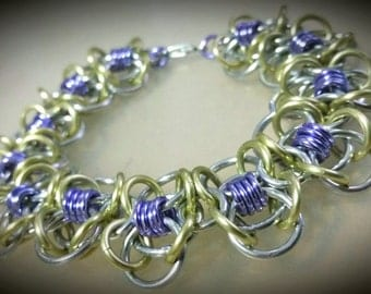 Large Coiled Butterfly Chainmaille Bracelet